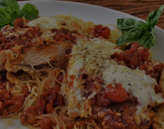 Chicken Parmigiana at the Capri Restaurant